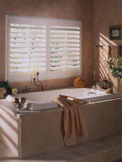 vinyl shutters are perfect for baths