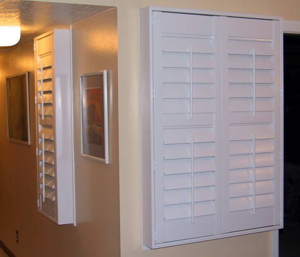 vinyl shutter box out frames